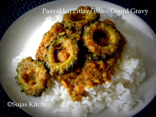 Zero bitterness Paavakkai Pitlay/Bitter Gourd Gravy
