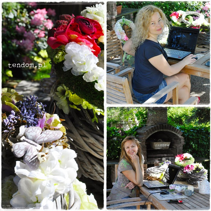 Wiosenne biuro w ogrodzie