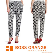 Queen Letiza Style BOSS Relaxed Trousers and HUGO BOSS Blazer and MANGO Clutch Bag
