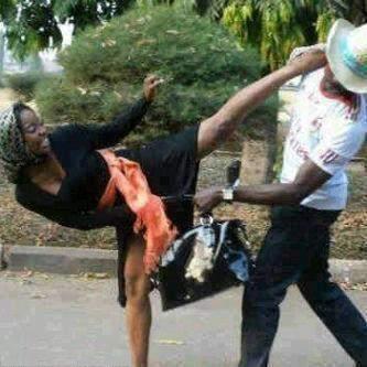 wife beating husband