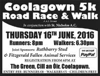 5k race nr Fermoy in NE Cork...Thurs 16th June