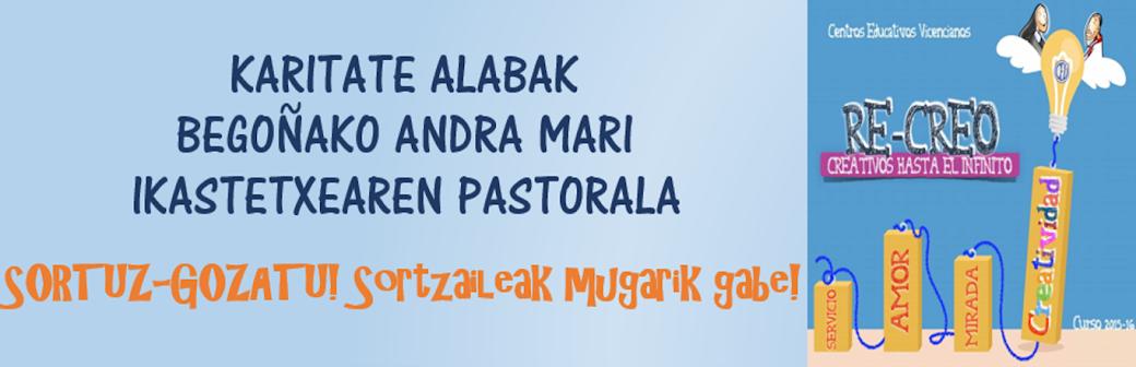 KARITATE ALABAK BEGOÑAKO ANDRA MARI IKASTETXEA