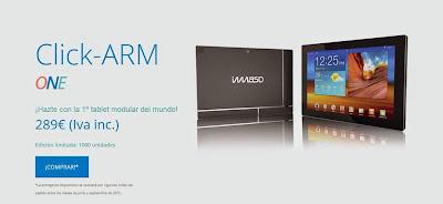La primera tablet modular, creada por imasd y que ha agotado sus primeras mil unidades.