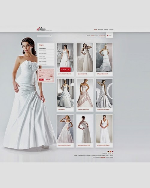 dịch vụ thiết kế website bán hàng váy cưới