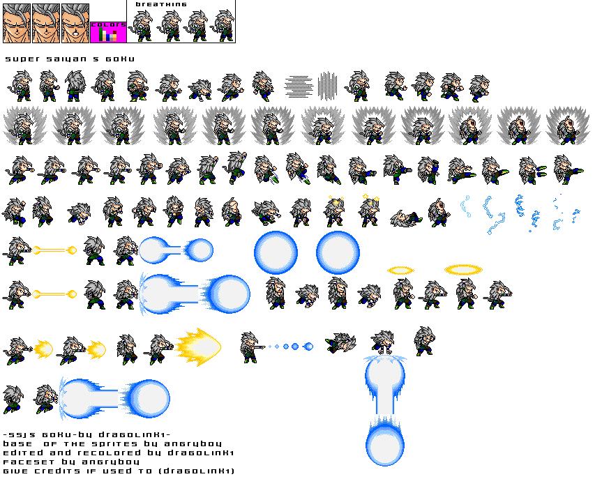 Dragon Ball: sprites goku ssj5 | 863 x 687 png 72kB