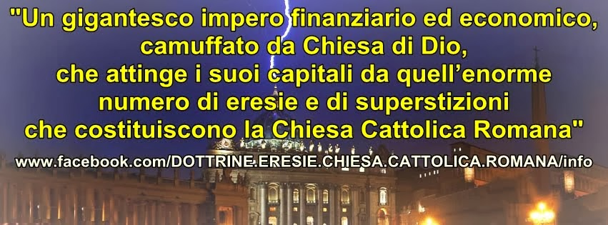 IMPOSTURE CHIESA CATTOLICA ROMANA