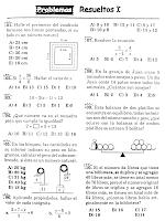 Enunciado de 10 problemas de planteamiento de ecuaciones Nivel I