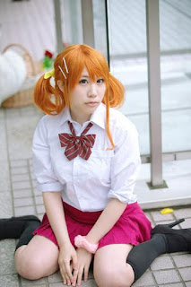 Saki cosplay as Anjou Naruko from Ano Hana