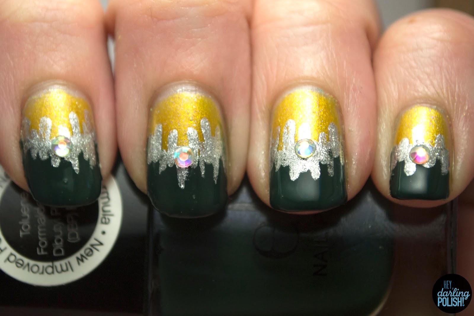 Green Bay Packer Nail Art   Best Nail Designs 2018