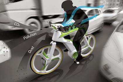 Konsep Sepeda Yang Bisa Konversi Polusi Menjadi Oksigen