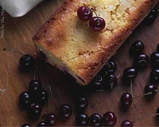 Вишнёво-творожный кекс