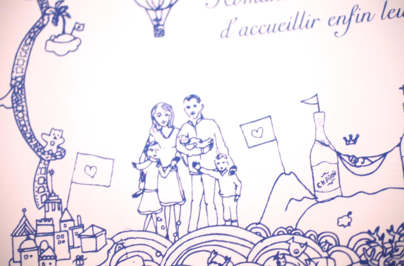 Célèbre your beautiful days: ♥ Faire-part de naissance avec dessins  PO94