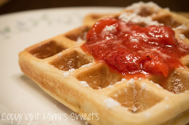 Homemade Waffles, Pancakes, & Strawberry Preserves (Includes Recipe)
