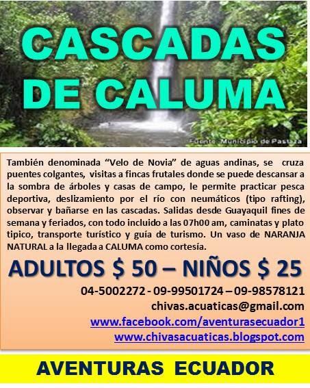 CASCADAS DE CALUMA (PROVINCIA DE BOLÍVAR)