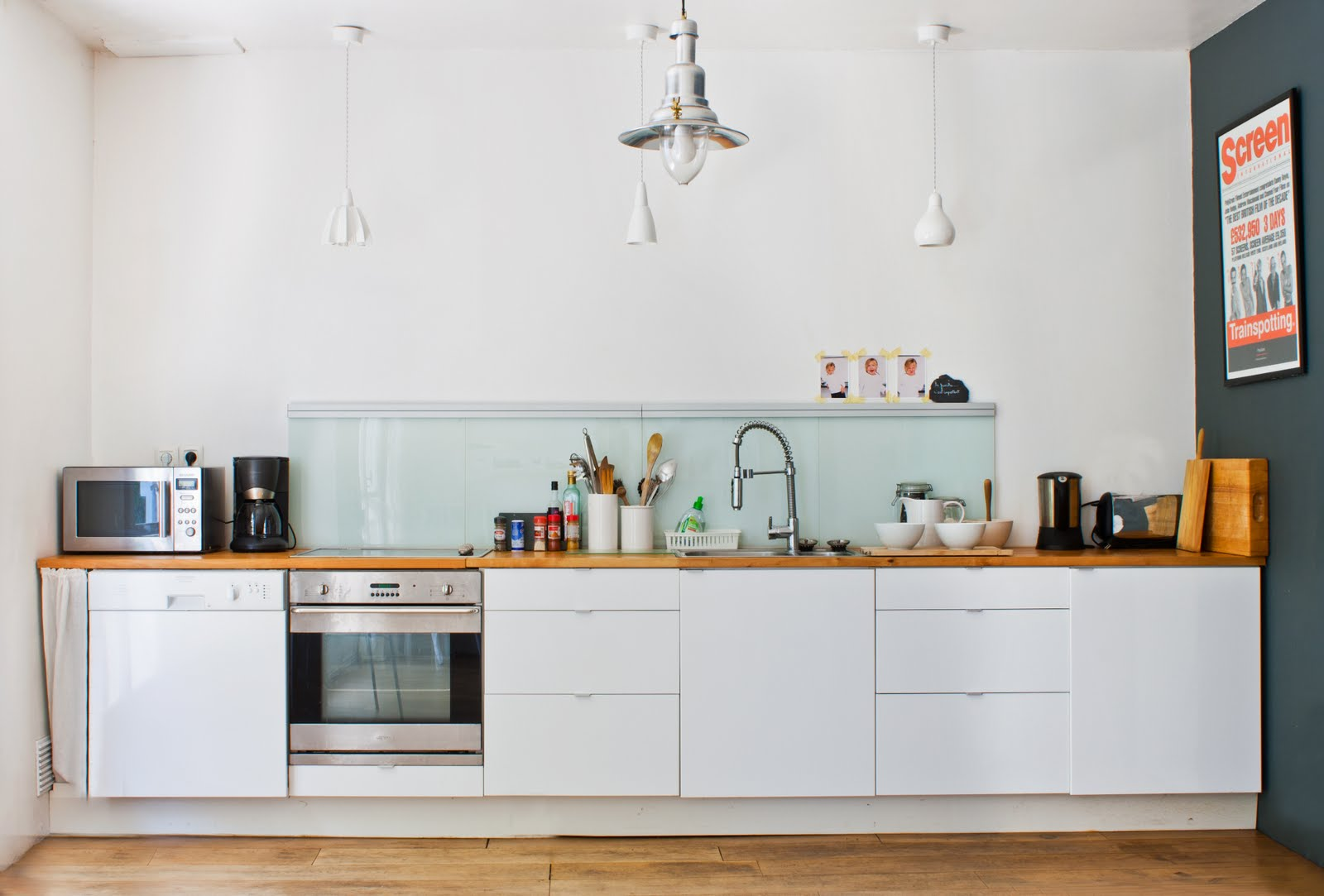 Black White Yellow Kitchen Inspiration