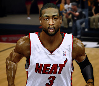 NBA 2K14 Dwyane Wade Cyberface Mod