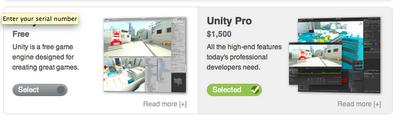 Preço da Unity3D