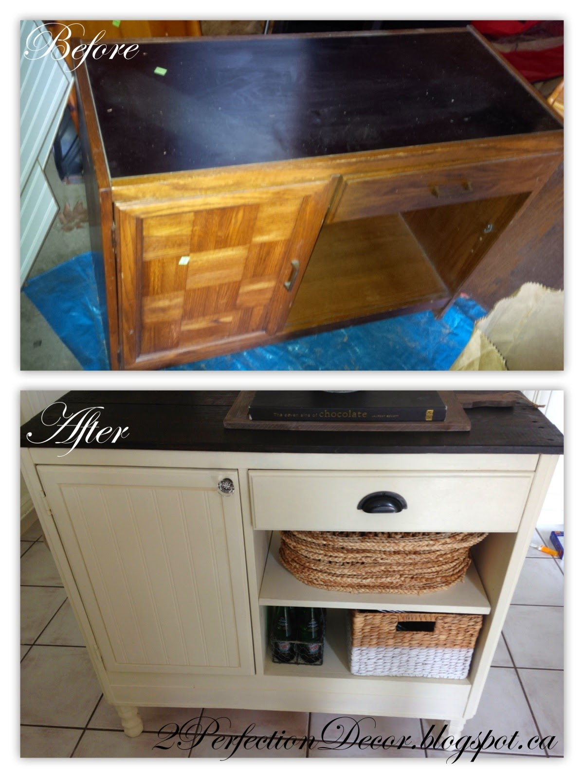 2Perfection Decor How to Transform a Vintage Desk Console into a