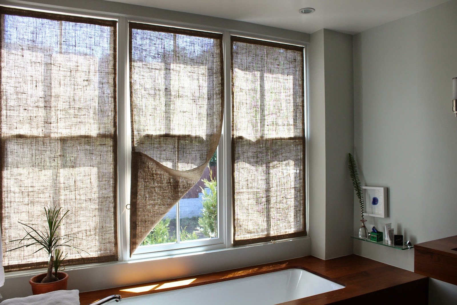 Burlap window treatments - Burlap Window Shades