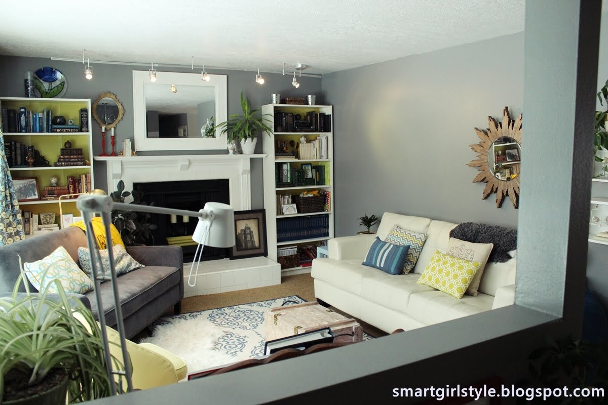 smartgirlstyle living room makeover. Black Bedroom Furniture Sets. Home Design Ideas