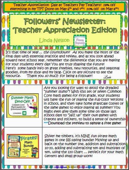 http://www.teacherspayteachers.com/Product/Followers-Newsletter-Teacher-Appreciation-Edition-1233009