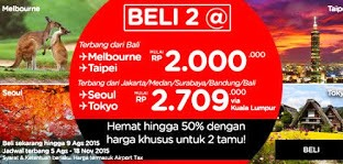 Promo terbaru AirAsia Periode Bulan Agustus 13 2015.
