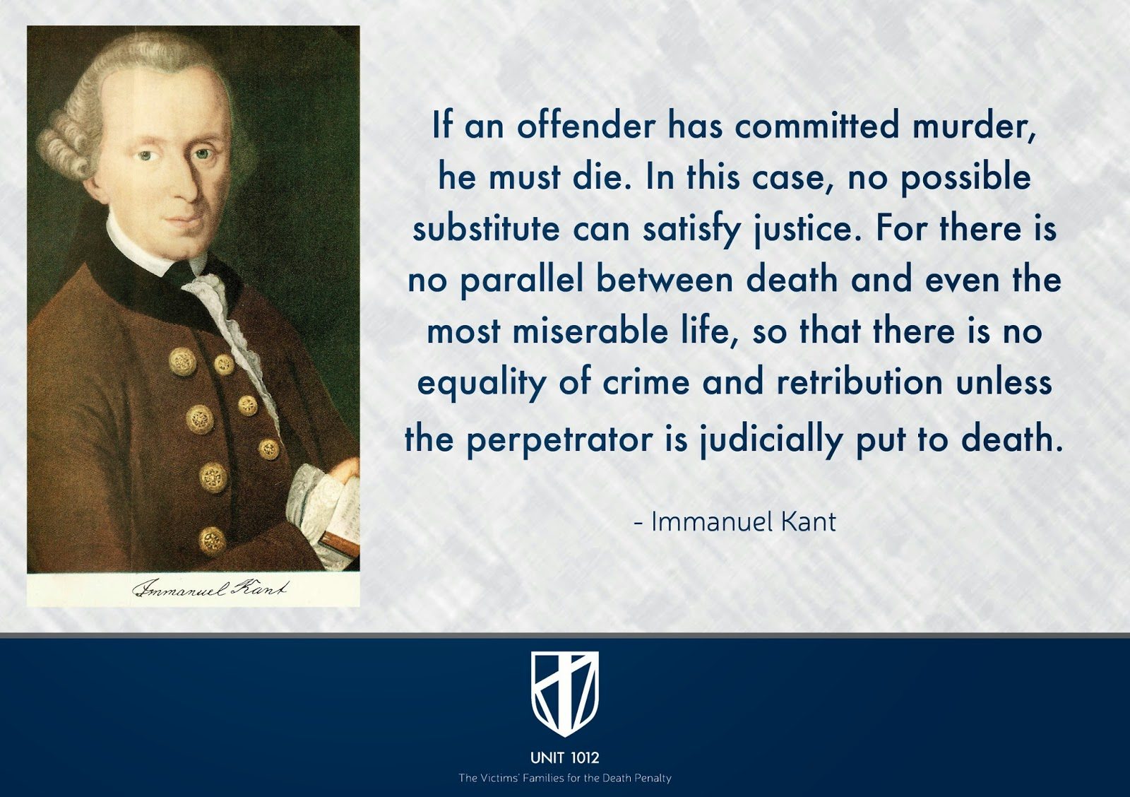 unit the victims families for the death penalty immanuel immanuel kant s pro death penalty quote pro death penalty quote