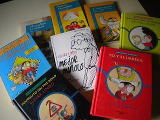 Los ocho libros de la serie Manolito Gafotas de Elvira Lindo