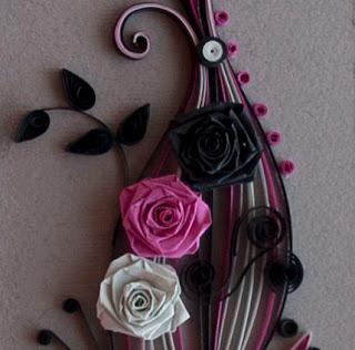 Neli quilling art quilling card purple flowers - Neli Quilling Art Quilling Card Purple And Black