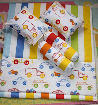 Colorful Cars Quilt Set