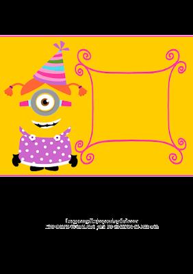 chica minion de cumpleaños