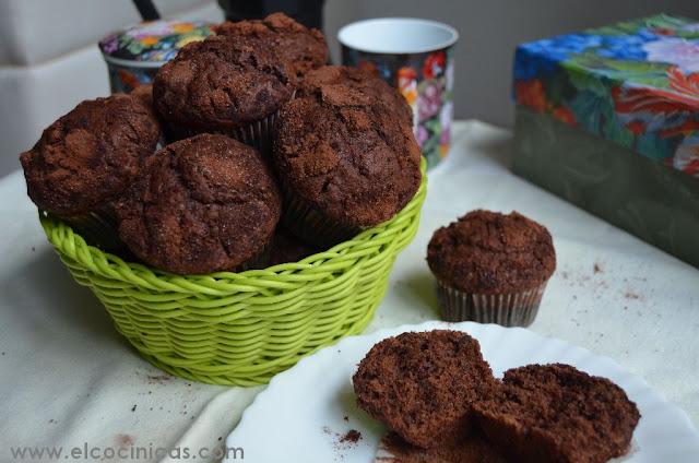 Muffins de café y chocolate