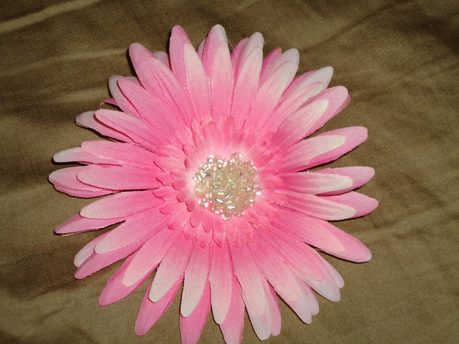 Bow Peep Accessories Large Pink Flower Hair Clips