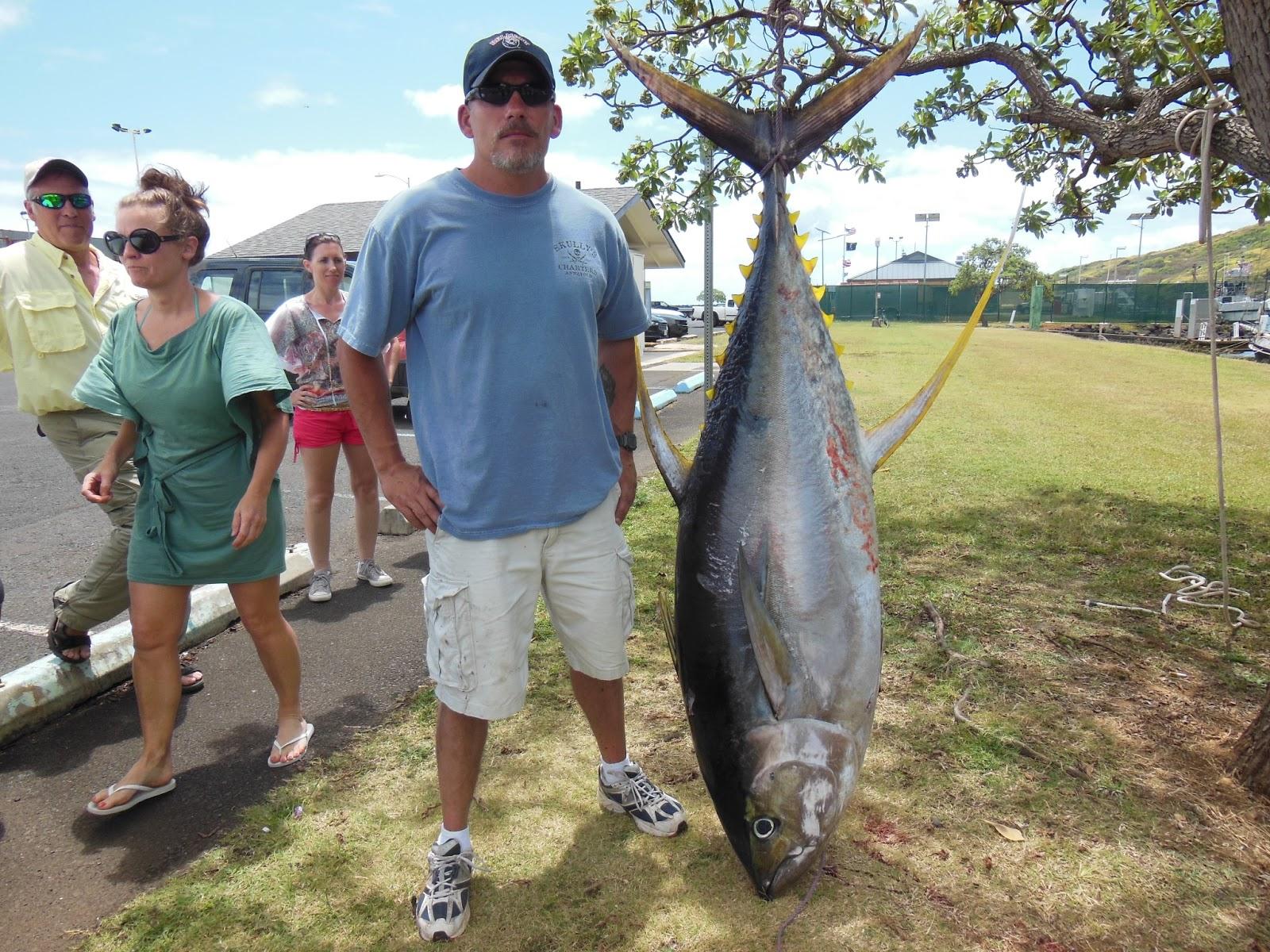 C lure fishing chaters kauai hawaii hawaiian gold giant for Kauai fishing report