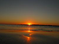 Playa Pinamar Canelones Uruguay atardecer paisaje