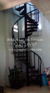 Jasa pembuatan tangga putar murah surabaya sidoarjo indonesia