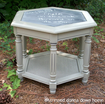 distressed painting, table makeover, Krylon paint