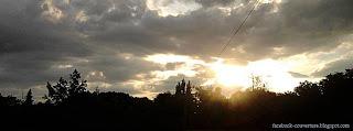 Couverture timeline Facebook coucher de soleil