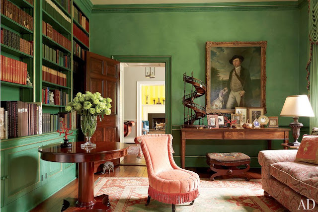 blog.oanasinga.com-interior-design-photos-simple-rural-green-gold-red-library-elizabeth-locke-alison-martin-virginia-usa