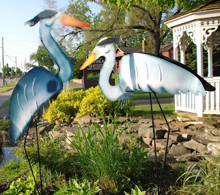 Michigan-made metal Great Blue Herons
