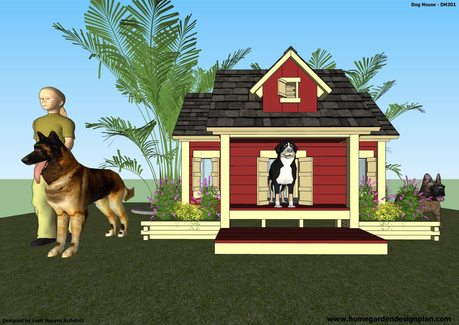 Home garden plans dh301 dog house plans how to build an insulated dog house free dog - Dog house images free ...