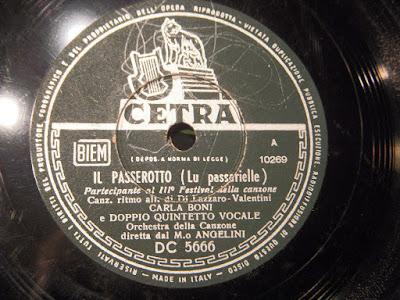 Sanremo 1953 - Carla Boni - Il passerotto