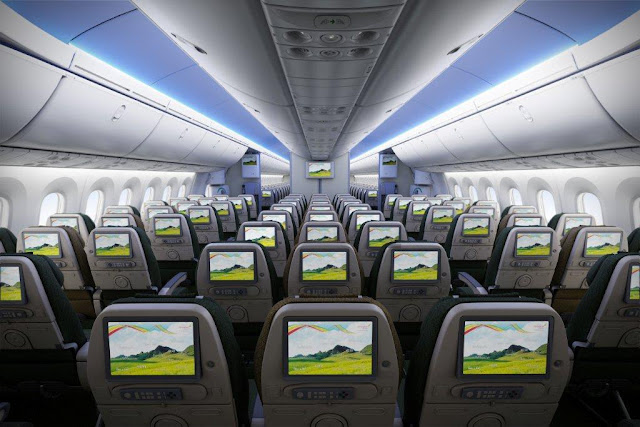 Ethiopian airlines Dreamliner inside picture