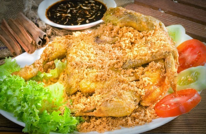 How to make ayam kalasan fried chicken from indonesia for J kitchen korean japanese restaurant