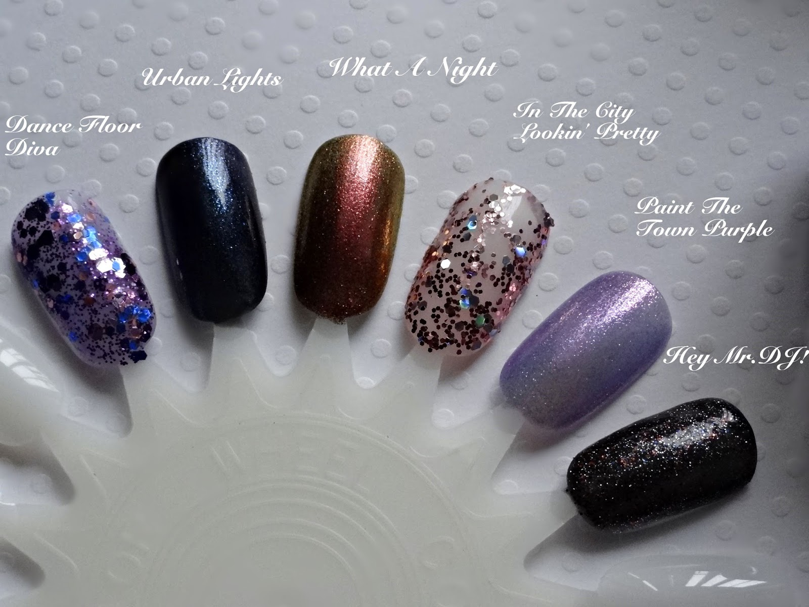 Finger Paints Big City Brighter Lights swatches