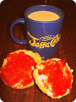 Jaffa Cakes, Mug, Tea, Scone, Jam, Strawberry, Thats the way the cookie crumbles