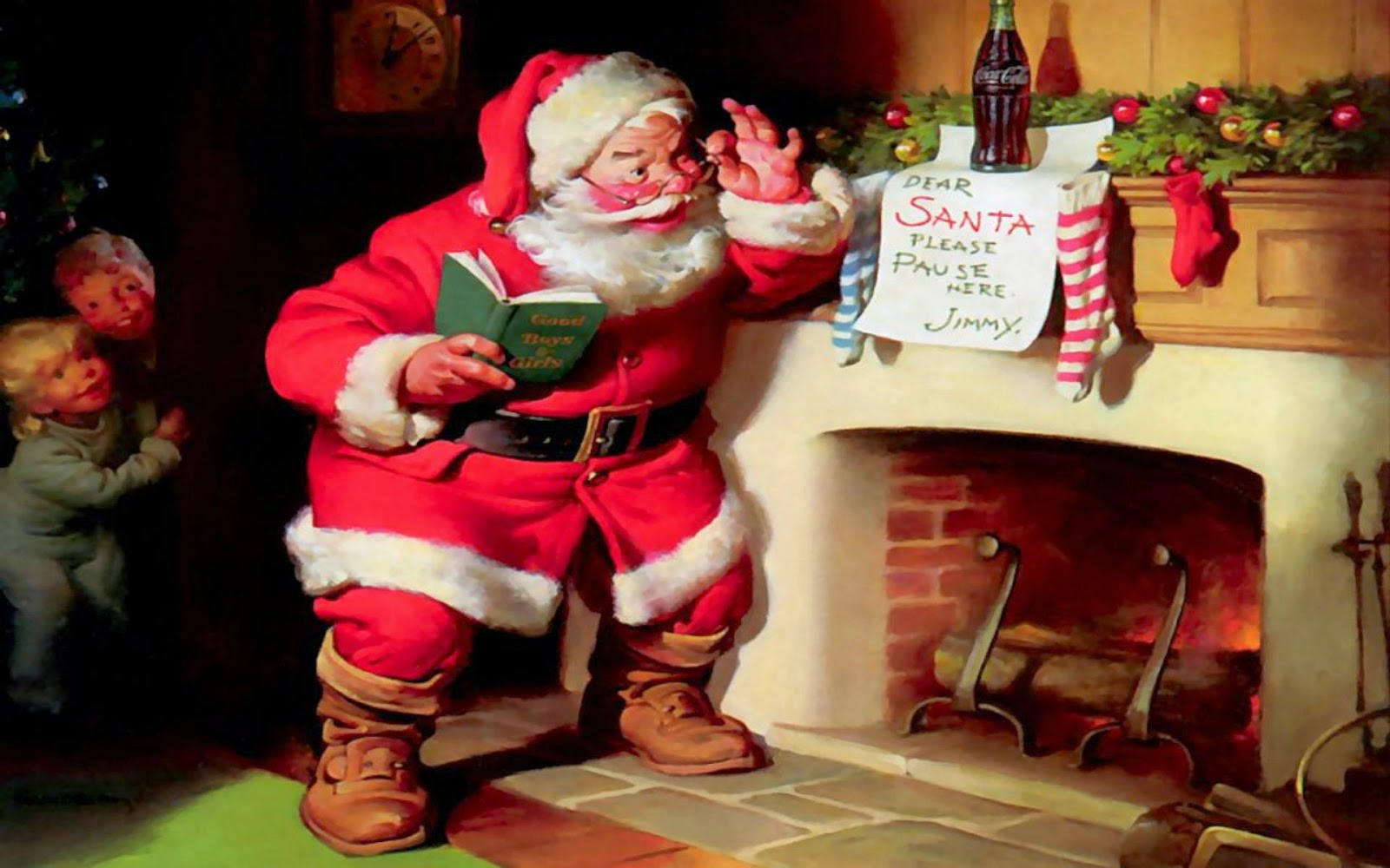 kids-hiding-behind-wall-and-watching-santa's-entry-image-picture.jpg