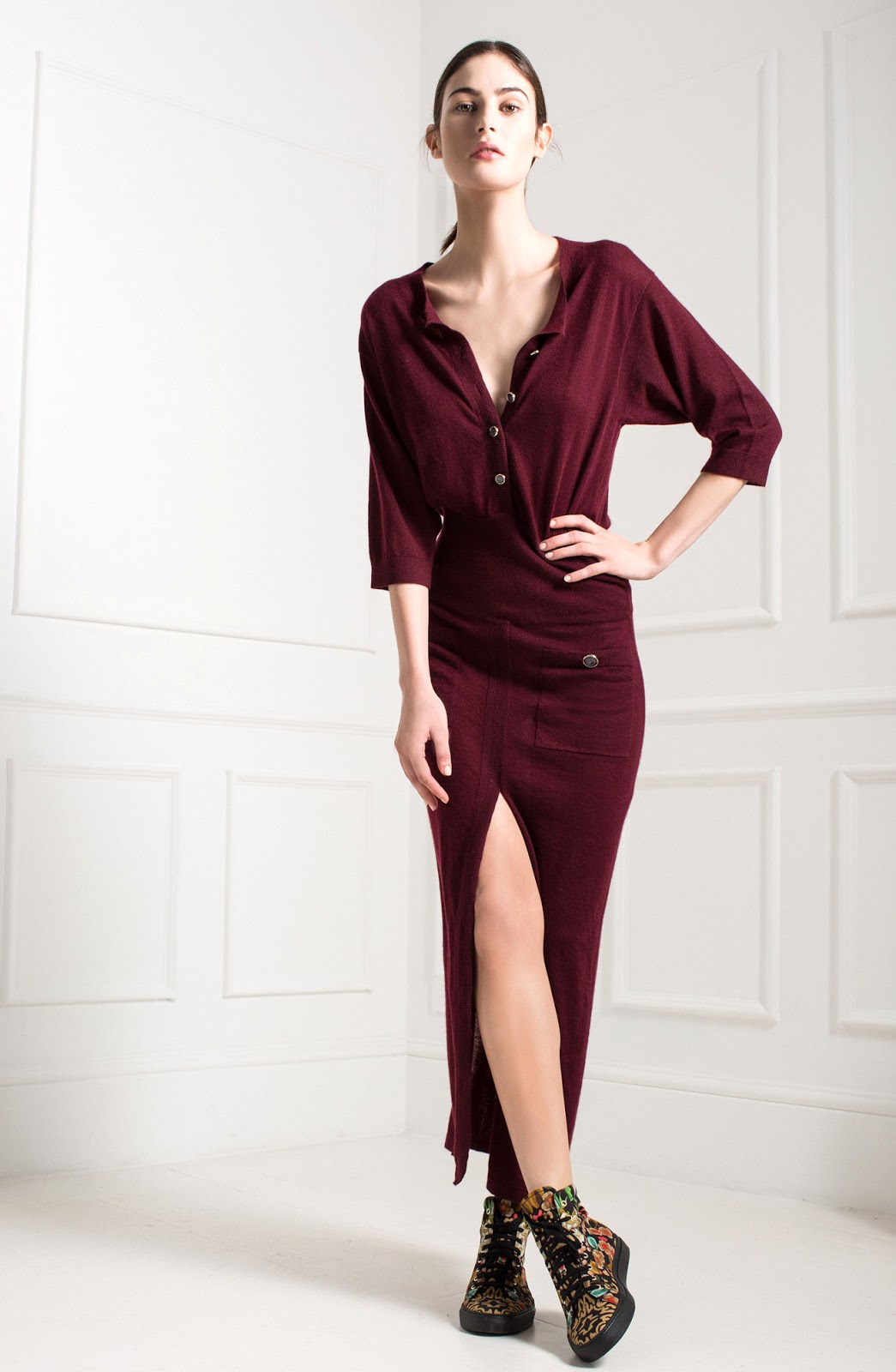Autumn wish list / Temperley London Pre Fall 2015 burgundy dress via fashionedbylove.co.uk british fashion blog
