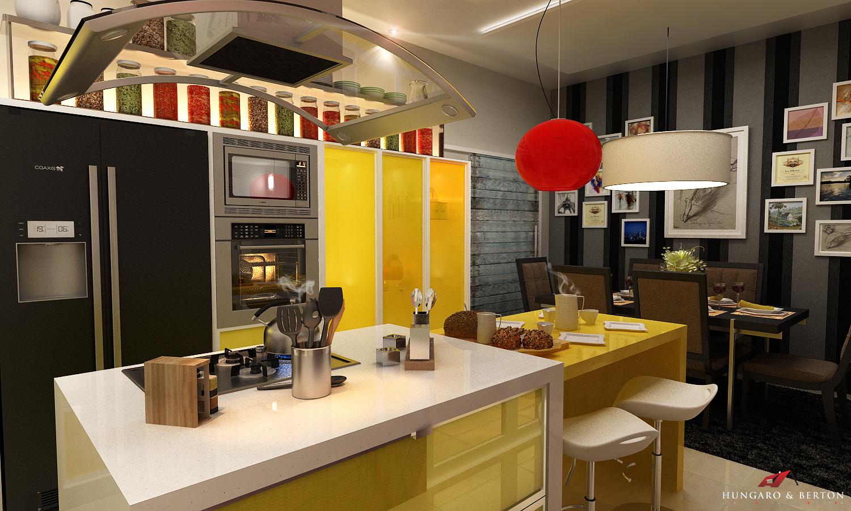 cozinha amarela daquelas de novela !!! confira aqui meu novo projeto #B6160C 1500 900