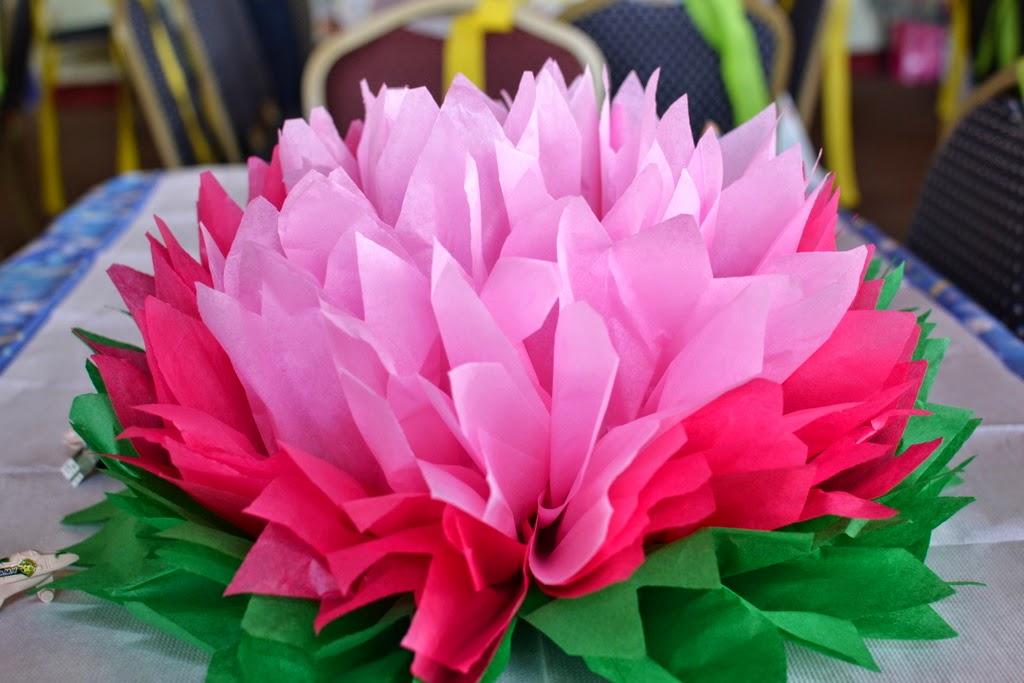teodeco tissue paper flowers seidenpapier blumen. Black Bedroom Furniture Sets. Home Design Ideas